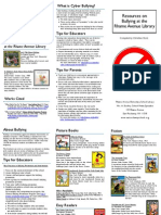 Bullying Resources Brochure