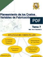Tema 7 - Planeamiento Costos Variables Fabricacion