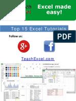 Top 15 Excel Tutorials