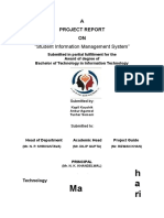 Project Report on Student Information Management System in php