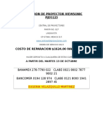 Reparacion de Proyector Viewsonic Pjd5123