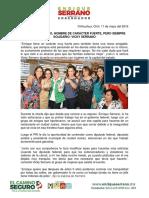 2016-05-11 Enrique Serrano, Hombre de Carácter Fuerte, Pero Siempre Solidario Vicky Serrano