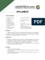 Syllabus de Competencia Practica Procesal Civil