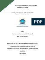Peran Indonesia Sebagai Mediator Dalam Konflik Asimetris Di Libya