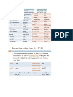 notes - family   possessive adjectives