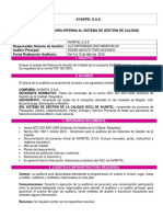 Plan de Auditoria Interna AVANTEL 2016