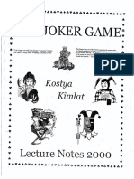 Kostya Kimlat - The Joker Game Lecture Notes 2000.pdf