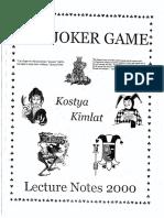 Kostya Kimlat - The Joker Game Lecture Notes 2000.pdf