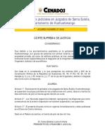 2003-A027 Suspende Plazos Judiciales en Juzgados de Santa Eulalia, Huehuetenango