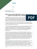ATT Bridgeport CT Network Investment Release 051216