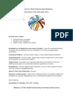Agenda and Minutes of Sixth Partnership Meeting, Barcelona