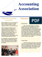accounting association newsletter  rd
