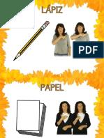 Material escolar en Lengua de Signos Española