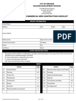 Commercial New Construction Checklist