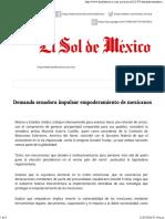 11-05-16 Demanda senadora impulsar empoderamiento de mexicanos