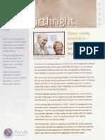 Pro Life Campaign Ireland Newsletter - Birthright November 2006