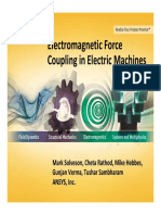 Electromagnetic Force Coupling Electric Machines