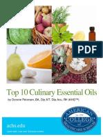Top 10 Culinary Essential Oils