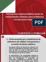 CUECH presenta 5 puntos para Reforma Universitaria