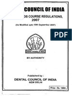 BDS Course Regulation 2007 Alongwith Amendments