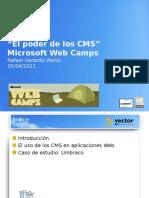 WebCamp El Poder de Los CMS Umbraco 13-04-13