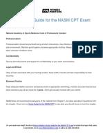 Nasm Study Guide PDF 2016 Nasm Cpt