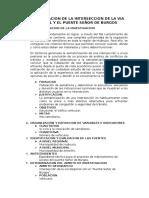 Semaforizacion de La Interseccion de La via Regional y El Puente Señor de Burgos