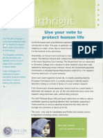 Pro Life Campaign Ireland Newsletter - Birthright April 2009