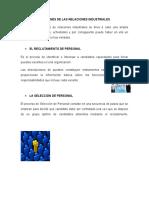 Funciones de Las Relaciones Industriales