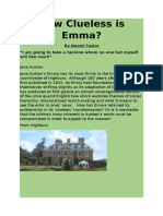 How clueless is Emma?  A Literary Magazine Article
