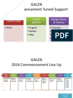 Staff Placement Diagrams Commencement 2016