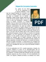 Biografía Miguel de Cervantes Saavedra