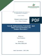 Rapport Final - Mémoire de Fin d'Etudes - Nouvelle réglementation prudentielle