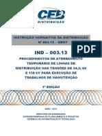 Ind 003.2013 - Aterramento Temporario de Lds p Exec Trabalhos de Manutencao
