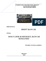 Referat Drept Bancar Rolul Bnr