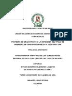 Formalización Tributaria de Los Comerciantes Informales en La Zona Central Del Cantón Milagro. (1)