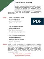 Libreto Acto Dia Del Profesor Cursos