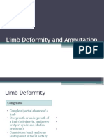 Limb Deformity and Amputation