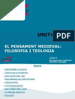 Unitat 5- Pensament Medieval - Filosofia i Teologia (1)