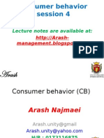 Consumer behavior-session 4