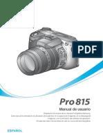 Manual de La Cámara Pro 815