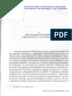 Texto - 5 Apontamentos Sobre a Cibernética e a Automação