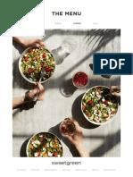 Sweetgreen Palo Alto opening menu