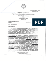 LSP Col. Mike Edmonson letter to Ronald Picou
