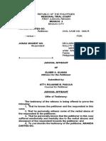 Judicial Affidavit Witness (Tagalog)