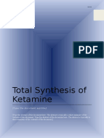 160103718 Total Synthesis of Ketamine