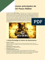 Operaciones Principales de MGS Peace Walker