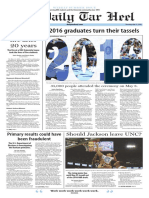 The Daily Tar Heel for May 12, 2016