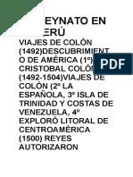 Virreynato en El Perú