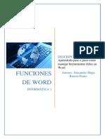 Funciones de Word Por Alex Mejia y Estefani Funes